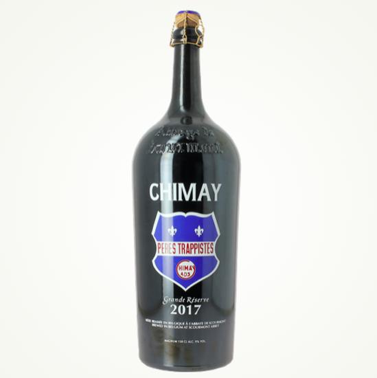 Afbeeldingen van Chimay MAGNUM Blauw 2017 1,5L + 2 glazen