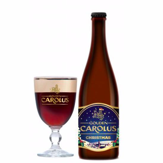 Afbeeldingen van Gouden Carolus 75cl Christmas + 2 Glazen
