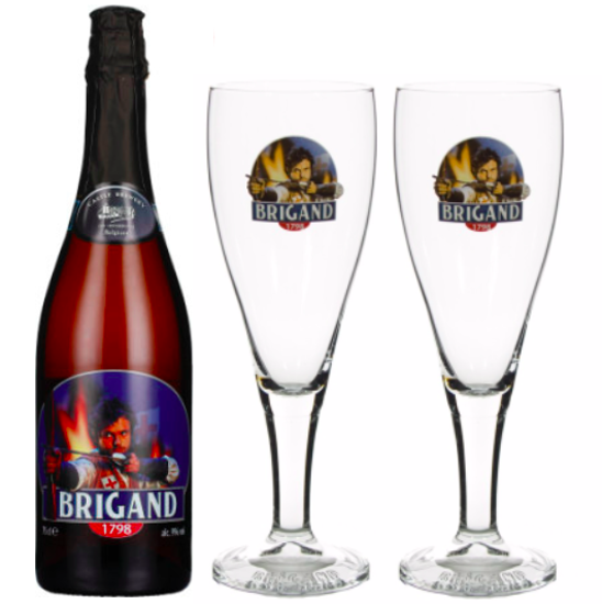 Picture of Brigand 75cl + 2 glazen