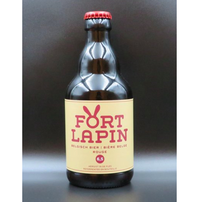 Picture of FORT LAPIN ROUGE 6.5% 24X33CL + 2 GLAZEN