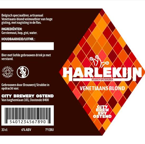 Afbeeldingen van Harlekijn Venetiaans Blond 6% 1x33cl